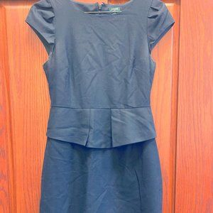 J.Crew Black Cap-Sleeve Dress.